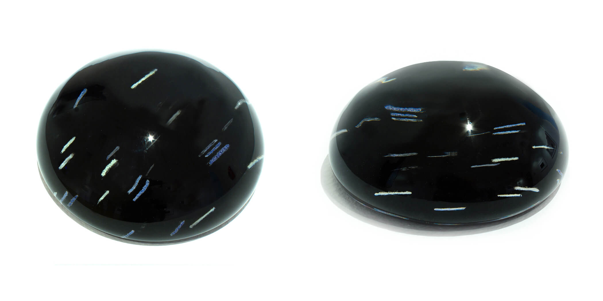 Star Drawing 2  (Single Glass Paperweight at two views), 2012